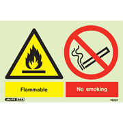 Warning Flammable No Smoking 7428
