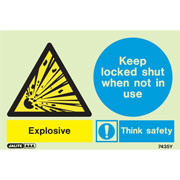 Warning Explosive Keep Locked Shut 7435