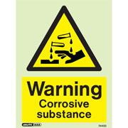 Warning Corrosive Substance 7440