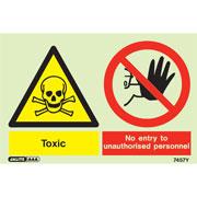 Warning Toxic Wear Respirator 7461