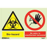 Bio Hazard No Entry Unauthorized Personnel 7467