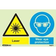 Warning Laser Wear Eye Protection 7487
