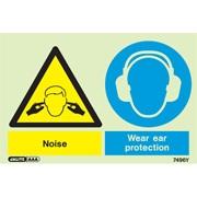 Warning Noise Wear Ear Protection 7496