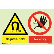 Warning Magnetic Field No Entry 7516