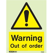 Warning Out Of Order 7522