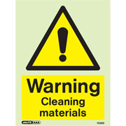 Warning Cleaning Materials 7526