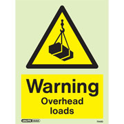 Warning Overhead Loads 7548