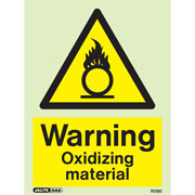 Warning Oxidising Material 7578