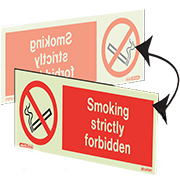 Hanging Smoking Strictly Forbidden 8014DS
