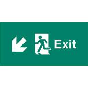 Emergency Light Legend Exit Down Left Pack of 10 EL443