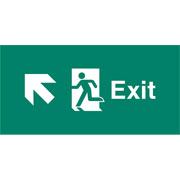 Emergency Light Legend Exit Up Left Pack of 10 EL444