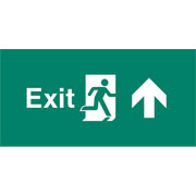 Emergency Light Legend Exit Up Pack of 10 EL446