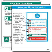 Action Notice Signs pack of 10 PG03