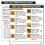 COSHH Warning Symbols Pack of 10 PG07