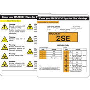 HAZCHEM Signs Pack of 10 PG08