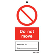 Do Not Move Labels Pack of 10 TIE009