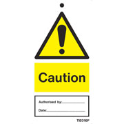 Caution Labels Pack of 10 TIE016