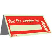 Tabletop Fire Warden Pack of 5 TT3956