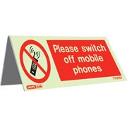 Tabletop Switch Off Mobile Pack of 5 TT3657