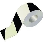 Black Striped Warning Tape WT0504