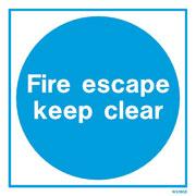 White Fire Escape WX5190