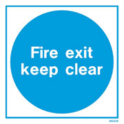 White Fire Exit WX5257