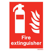 White Fire Extinguisher WX6490