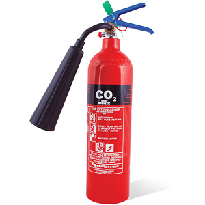 Non magnetic CO2 fire extinguisher