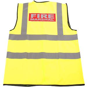 Hi-vis fire marshal vest