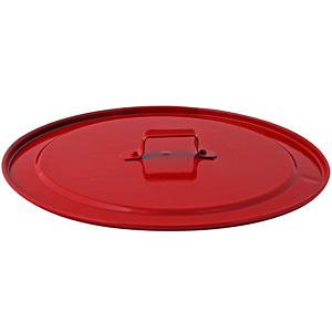 Metal fire bucket lid