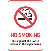 No smoking plastic sign