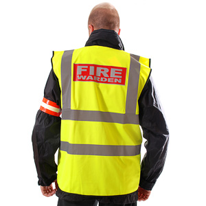 Hi-vis fire warden vest