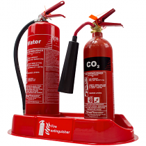 Double extinguisher plinth