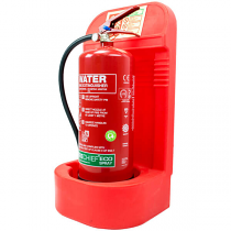 Red Fire Extinguisher Stand