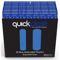 Quick Plast Blue Plasters pack of 40