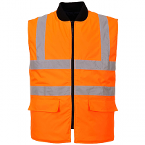 Hi-Vis Orange Bodywarmer Reversible