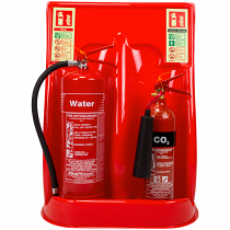 Economy double extinguisher stand