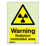 Warning Radiation Controlled Area 7477