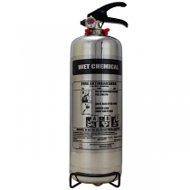 Chrome 2 litre wet chemical extinguisher