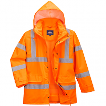 Heavy Duty Weatherproof Orange Jacket