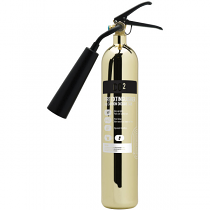 Polished Gold 2kg CO2 Extinguisher