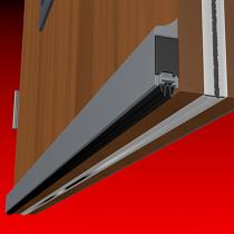 Smoke-Rated Surface-Mounted Bottom Door Seal